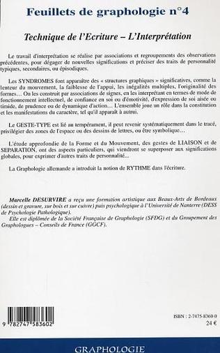 4eme Feuillets de graphologie n°4