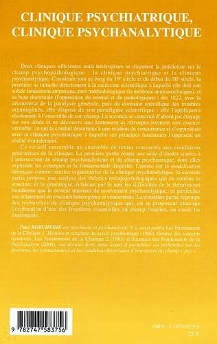 4eme Clinique psychiatrique, clinique psychanalytique