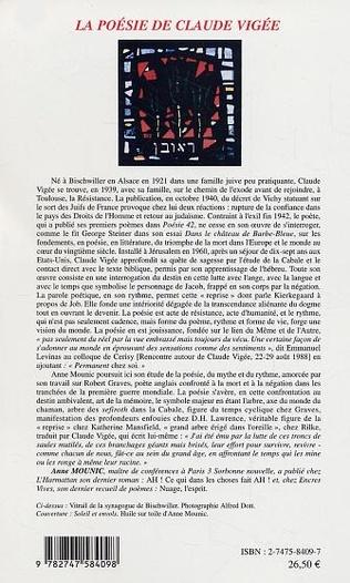 4eme La poésie de Claude Vigée