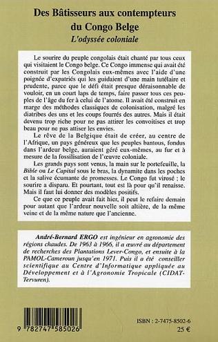 4eme Des Bâtisseurs aux contempteurs du Congo Belge