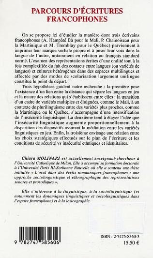 4eme Parcours d'écritures francophones