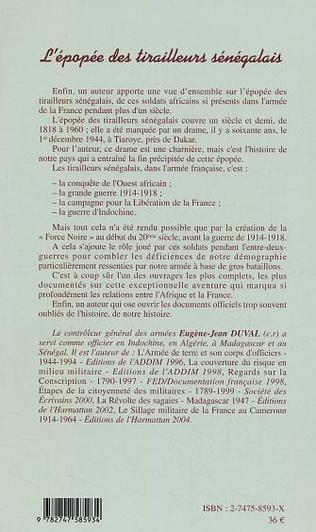 4eme L'épopée des tirailleurs sénégalais