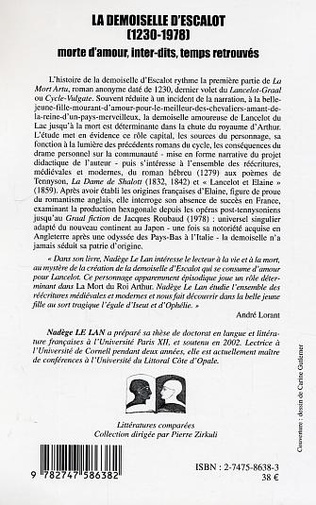 4eme La demoiselle d'Escalot (1230-1978)