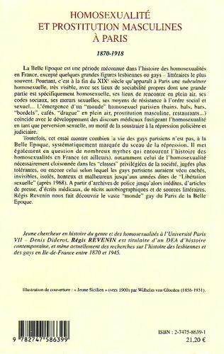 4eme Homosexualité et prostitution masculines à Paris