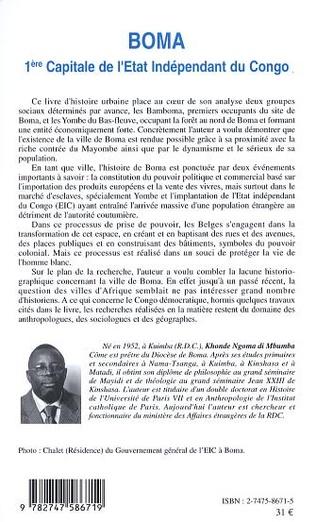 4eme Boma 1ère capitale de l'Etat Indépendant du Congo
