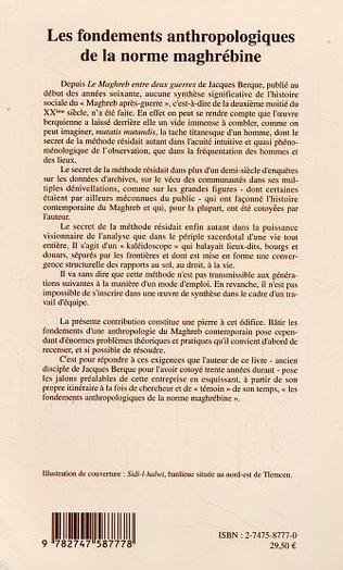 4eme Les fondements anthropologiques de la norme maghrébine