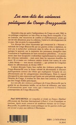 4eme Les non-dits des violences politiques du Congo-Brazzaville