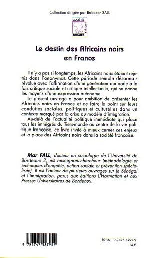 4eme Le destin des Africains noirs en France