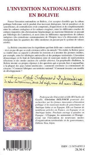 4eme L'invention nationaliste en Bolivie