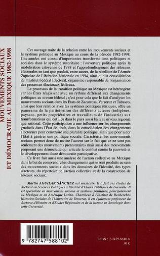 4eme Mouvements sociaux et démocratie au Mexique (1982-1998)