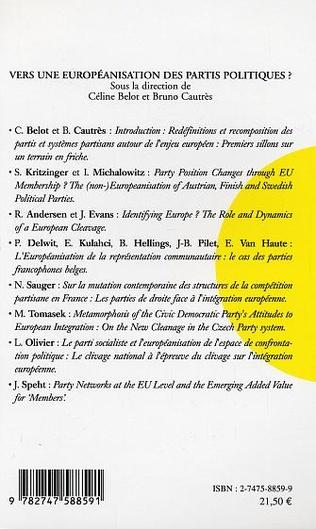 4eme Vers une européanisation des partis politiques ?