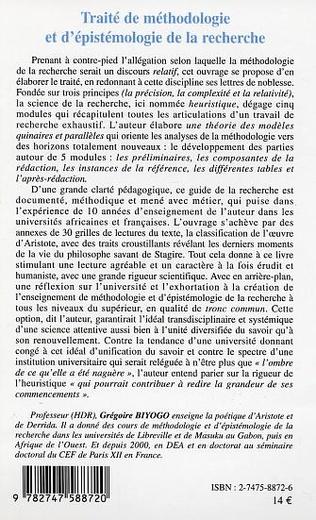 4eme Traité de méthodologie et d'épistémologie de la recherche