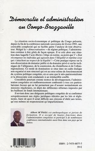 4eme Démocratie et administration au Congo-Brazzaville