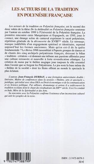 4eme Les acteurs de la tradition en Polynésie française
