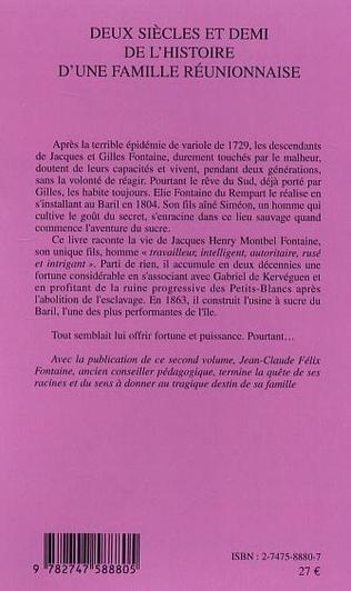 4eme Deux siècles et demi de l'histoire d'une famille réunionnaise (deuxième volume)