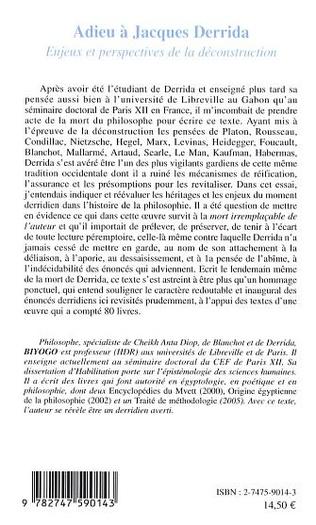 4eme Adieu à Jacques Derrida