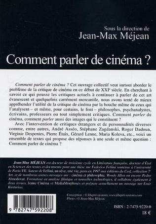 4eme Comment parler de cinéma ?