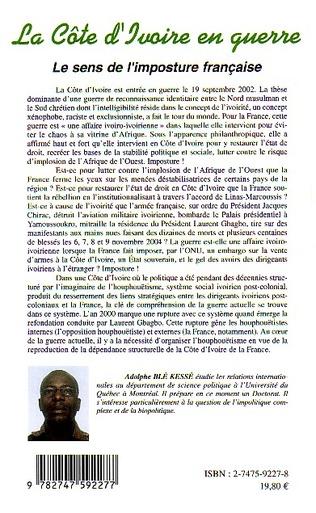 4eme La Côte d'Ivoire en guerre