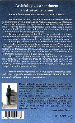 4eme Archéologie du sentiment en Amérique latine