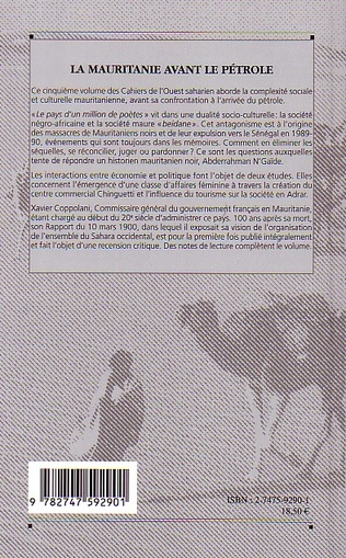 4eme La Mauritanie avant le pétrole