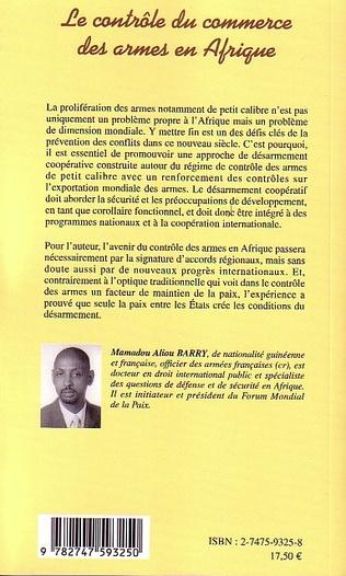 4eme Le contrôle du commerce des armes en Afrique