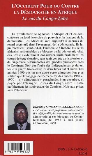 4eme L'Occident pour ou contre la Démocratie en Afrique