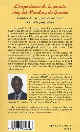 4eme L'importance de la parole chez les Manding de Guinée