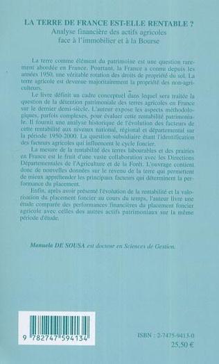4eme La terre de France est-elle rentable ?
