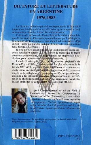 4eme Dictature et littérature en Argentine