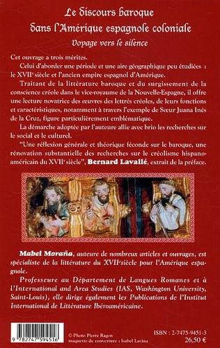 4eme Le discours baroque dans l'Amérique espagnole coloniale