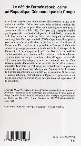 4eme Le défi de l'armée républicaine en République Démocratique du Congo