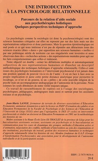 4eme Une introduction à la psychologie relationnelle