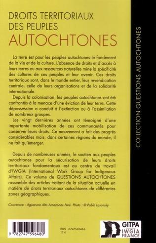 4eme Droits territoriaux des peuples autochtones