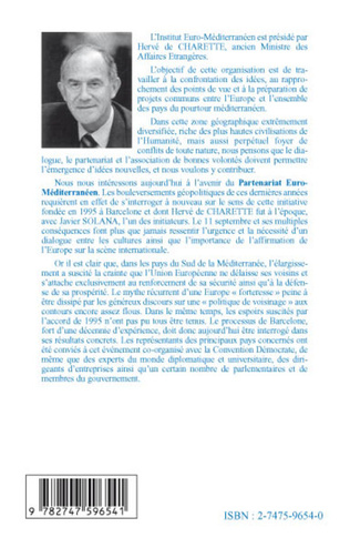 4eme Pour un nouveau partenariat euro-méditerranéen