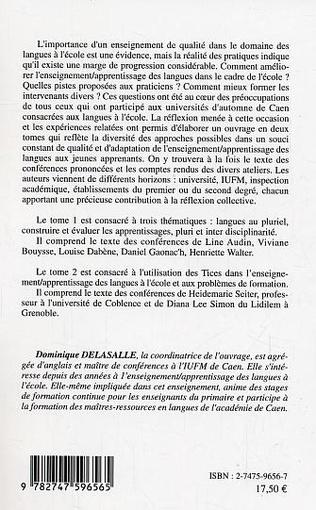 4eme LES LANGUES EN CYCLE 1 ET 2 : PRATIQUE DE CLASSE AUTOUR DE L'EDUCATION A UX LANGUES-CULTURES A LEURS DIVERSITES