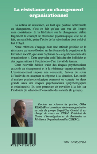 4eme La résistance au changement organisationnel (Nouvelle édition)