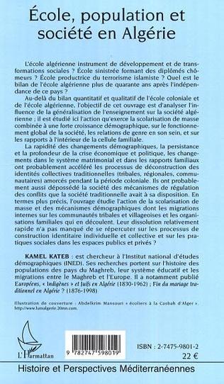 4eme Ecole, population et société en Algérie
