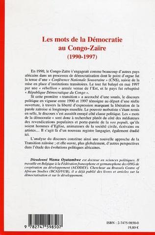 4eme Les mots de la Démocratie au Congo-Zaïre