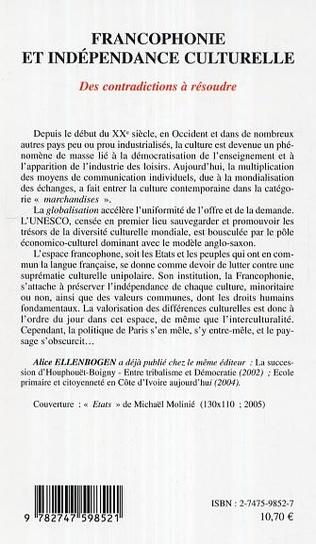 4eme Francophonie et indépendance culturelle