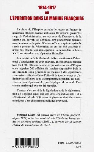 4eme 1814-1817 ou l'épuration dans la Marine française