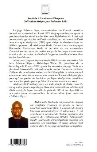 4eme Sénégal Affaire Me Sèye : un meurtre sur commande