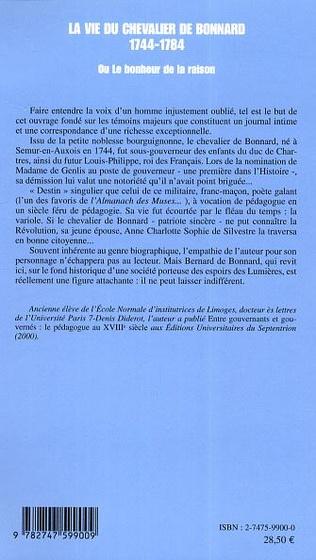 4eme La vie du chevalier de Bonnard (1744-1784)