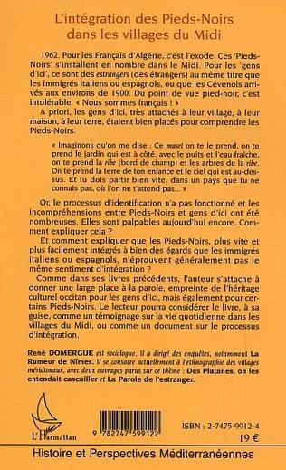 4eme L'intégration des Pieds-Noirs dans les villages du Midi