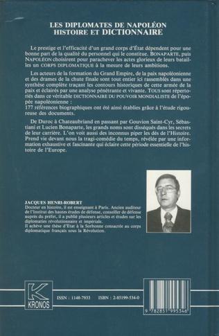 Dictionnaire Des Diplomates De Napoleon Kronos N 5