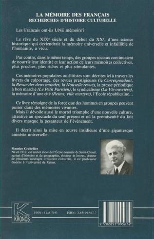 4eme La mémoire des Français