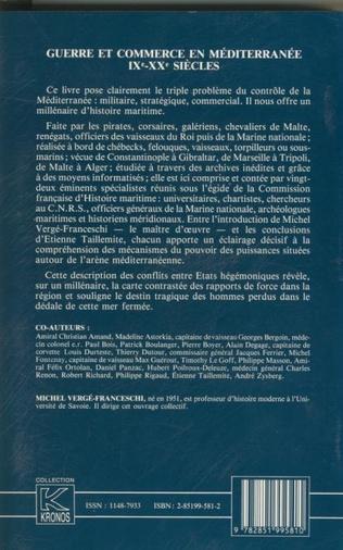 4eme Guerre et commerce en Méditerranée IXe-XXe siècles