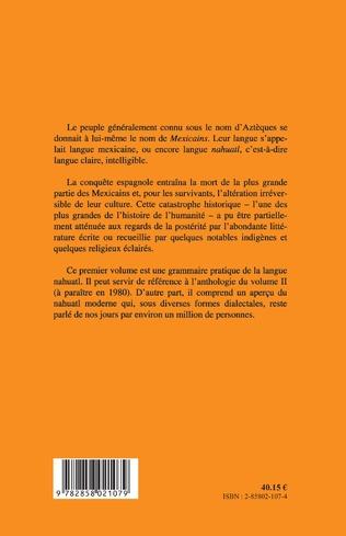 4eme Introduction à la langue et à la littérature aztèques