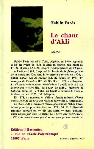 4eme Chant d'Akli
