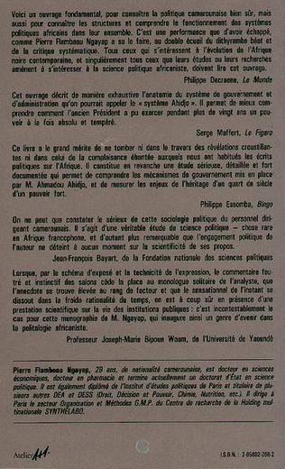 4eme Cameroun, qui gouverne ?