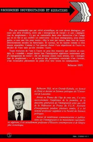 4eme L'immigration algérienne en France